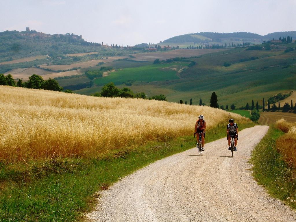peasaggio e biciclette